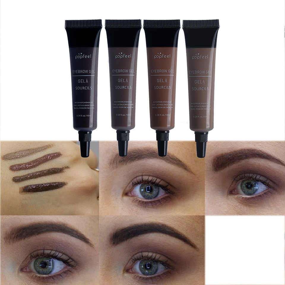 Liquid Dyeing Eyebrow ครีมสีน้ำตาล Pigment Eyebrow TATTOO ปากกา NATURAL Eye Brow Enhancer WAX Pro คิ้วสีแต่งหน้า TSLM2
