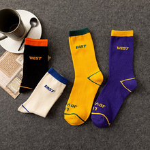 Korean style fashion Harajuku street hip hop socks simple tube men and women letter tide