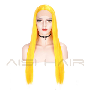 Image 3 - AISI HAIR White Synthetic Lace Front Wig Long Straight Wigs For Women 24Inch Middle Part Black Red Cosplay or Party Wigs