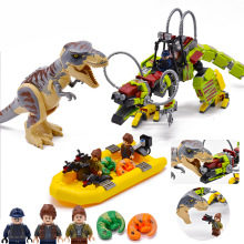 2019 Jurassic Park 2 Tyrannosaurus Rex War Mech Dragon Compatible Lepinedely Dinosaur 75938 Building Blocks Toys For Children lepin original jurassic world building blocks sets jurrassic park 4 dinosaur model compatible bricks toys for children