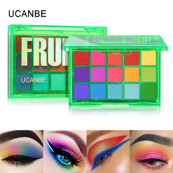 UCANBE Sweet Party Eyeshadow Pallete Neon Makeup Palette 15 Shimmer Glitter Matte Shades Matellic Nude Blendable Pigment Powder 1