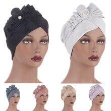 2021 галстук-бабочка блеск головной платок чепчик новинка женщины% 27 тюрбан шапки готов носить хиджабы мусульманин голова накидки шляпа тюрбан моджер
