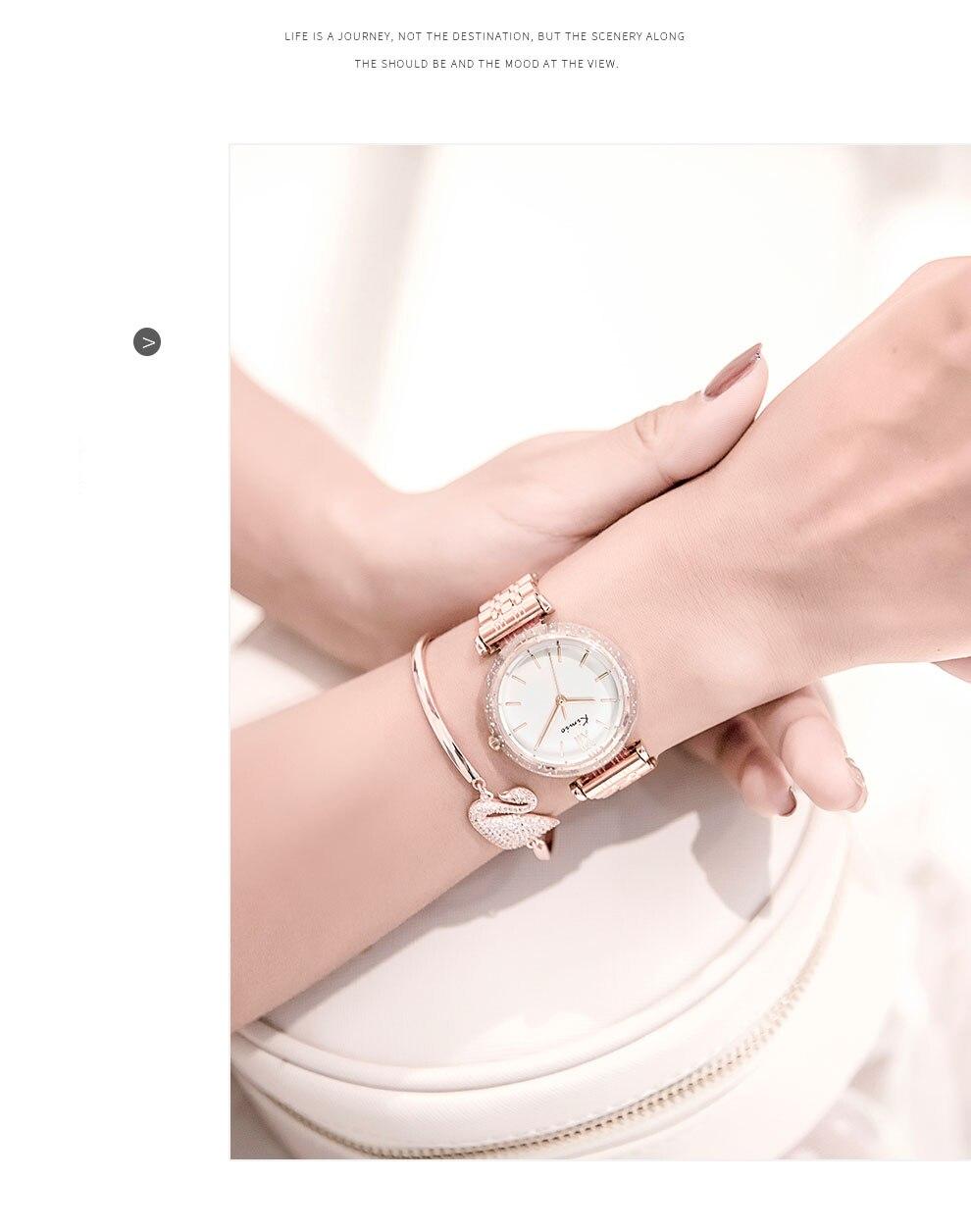 de cristal de luxo pulseira de aço