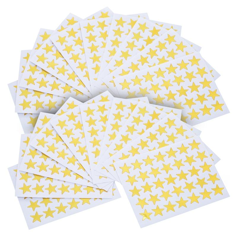 350pcs Children Reward Stickers Five-pointed Star Gold Foil Pvc Sticker Scrapbooking For Gift Decoration Stationery Sticker