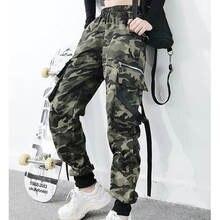 Брюки женские камуфляжные свободные штаны карго в Корейском