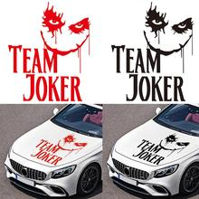 "цена на ""TEAM JOKER"" Universal Car Stickers Text Auto Vinyl Decal Car Engine Cover Sticker Hood Decals Cool Design Car Accessories"