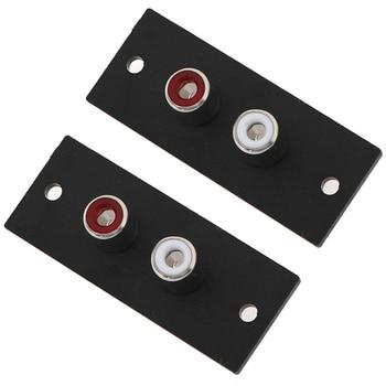 2 sztuk/partia 2 Way rdzeń miedziany RCA Terminal Panel ścienny płyta wejście Phono podwozie gniazdo Audio AV Adapter