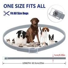 Pet Collar Dewel Dog Anti Flea Ticks Long-term Protection Mosquitoes Outdoor Protective Adjustable  White