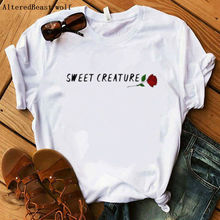 2020 Harry Styles T Shirt Women Casual sweet creature rose Print Tshirt Harajuku Fashion T-shirt Sum