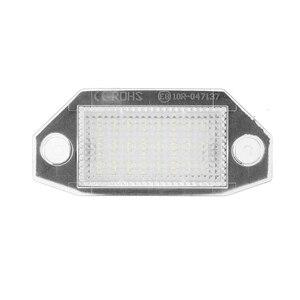 Image 3 - 2 pces 12v 24 led luzes da placa de licença do número do carro lâmpadas branco para ford mondeo mk3 mkii 2000 2007 4 porta/5 porta