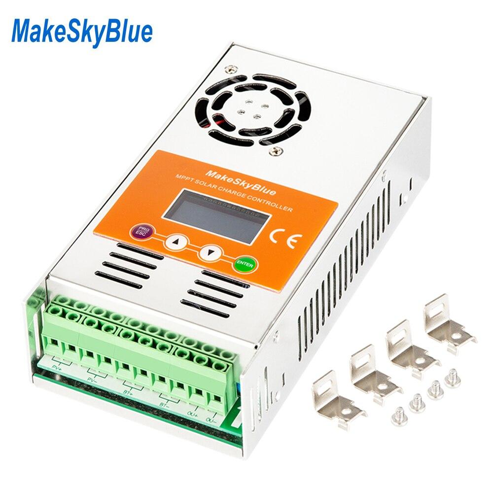 MakeSkyBlue MPPT Контроллер заряда солнечной батареи 30 А 40 А 60 А для 12В 24В 36В 48В 72В 9В кислотная литиевая батарея не PWM Регулятор зарядки