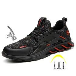 Zapatos de trabajo de protección antigolpes de punta de acero al aire libre para hombre de invierno botas de trabajo a prueba de perforaciones zapatos de seguridad antideslizantes