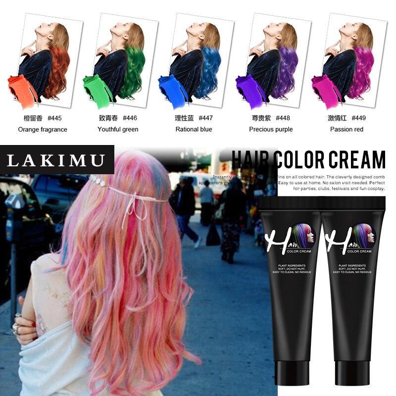 LAKIMU Temporary Hair Color Wax No Irritation Hair Dye Temporary Dye Cream Hair For Hair Coloring Styling Silver Grey Disposable