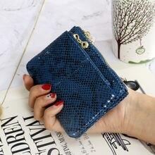 2020 serpentine нулевой карман бумажник на молнии сумка для