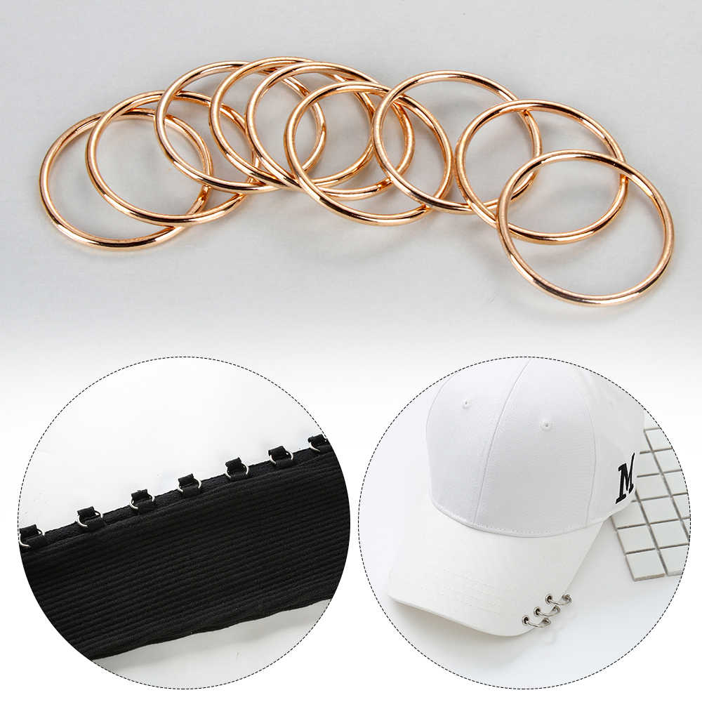 10pcs/bag Gold Silver Circle Ring Connection Alloy Metal Shoes Bags Belt  Buckles DIY Craft Supplies Webbing