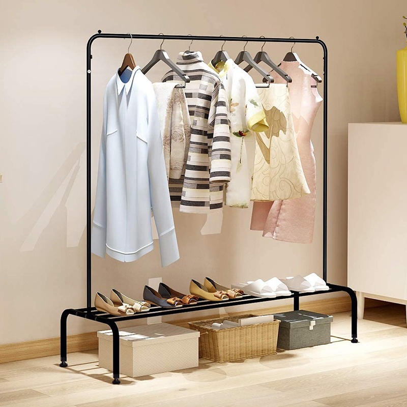 Clothing Rack Heavy Duty Metal Iron Clothes Stand Rack Coat Rack  Furniture Coat Hanger Stand Garment Racks Storage Clothes Rack