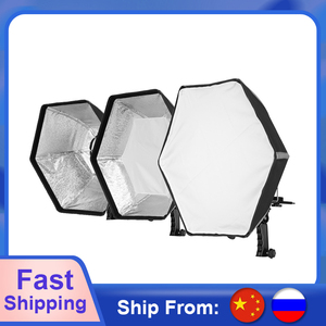 Image 1 - Selens Fotografische Zachte Doos 50 Cm Hexagon Softbox Met L Vorm Adapter Ring Photo Studio Accessoires