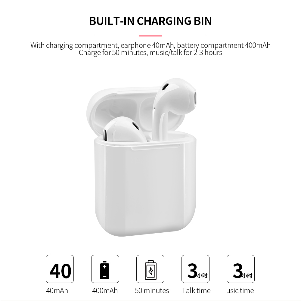 Color Tws Bluetooth Earphone Stereo Earbud Bluetooth Headset With Charging Pod Wireless Headsets For All Smart Phone