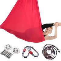 Neue 4*2,8 m Yoga Gürtel Inversion Übungen Traktion Gerät Anti-Gravity Yoga Hängematte Fliegen Schaukel Pilates Luft trapeze