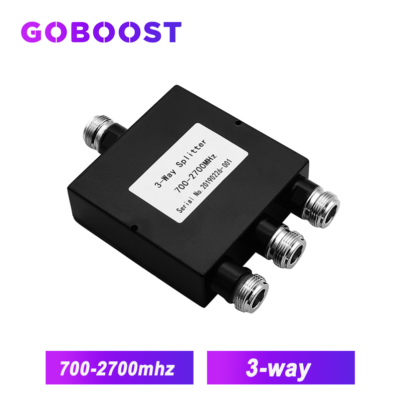 3-way Power Splitter 700~2700MHz N-Female LTE Signal Repeater Splitter For Connect 2G 3G 4G Internet Mobile Signal Booster /