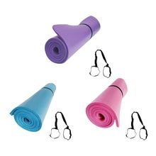 Yoga And Pilates Exercise Gym Mat 10mm NBR Foam With Carry Strap Perfect For Yoga Gymnastics Pilates Stretching Ab Work