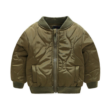 Toddler Spring Warm Bomber Jacket