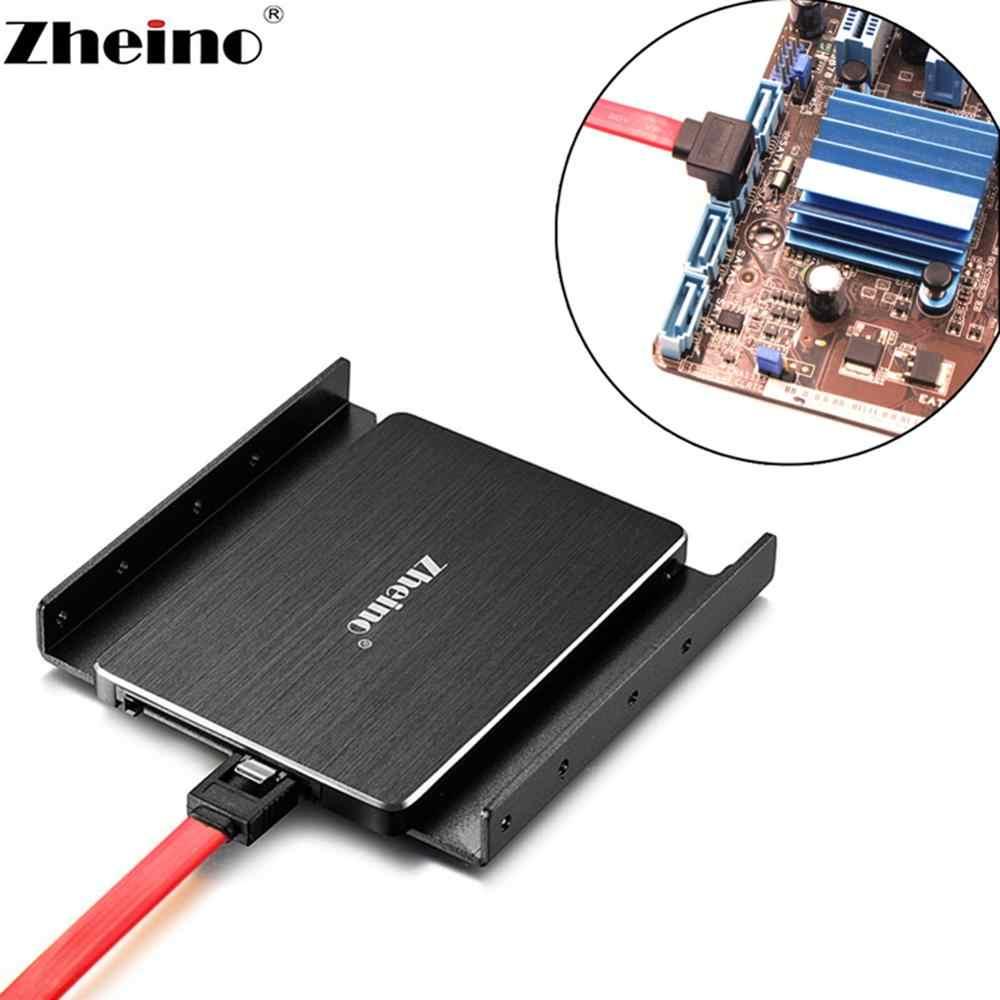 Zheino-Adaptador de montaje de 2,5 pulgadas a 3,5 pulgadas, soporte HDD SSD, Marco para escritorio para soporte de ordenador