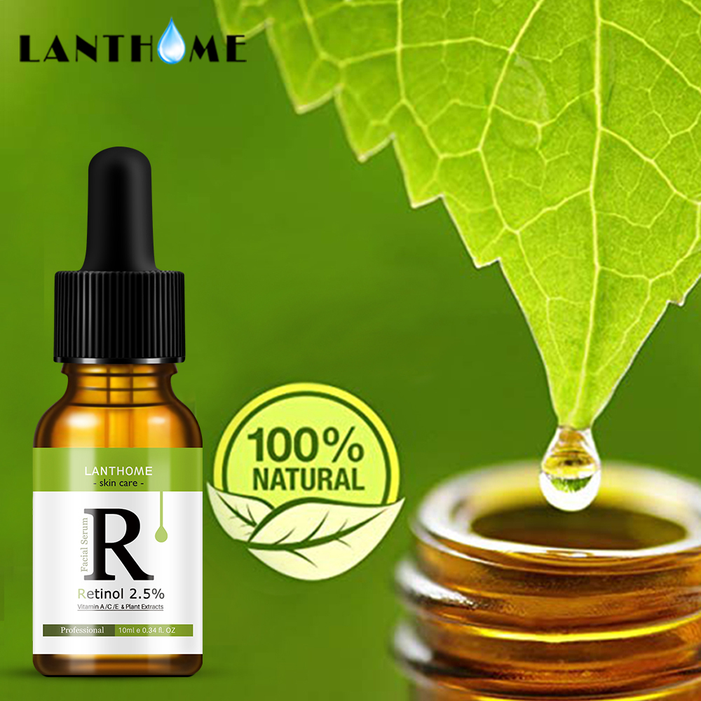 Retinol 2.5% Vitamin C / A Facial Anti Wrinkle Serum Remove Dark Spots Collagen Serum Anti Aging Essence Whitening Face Serum