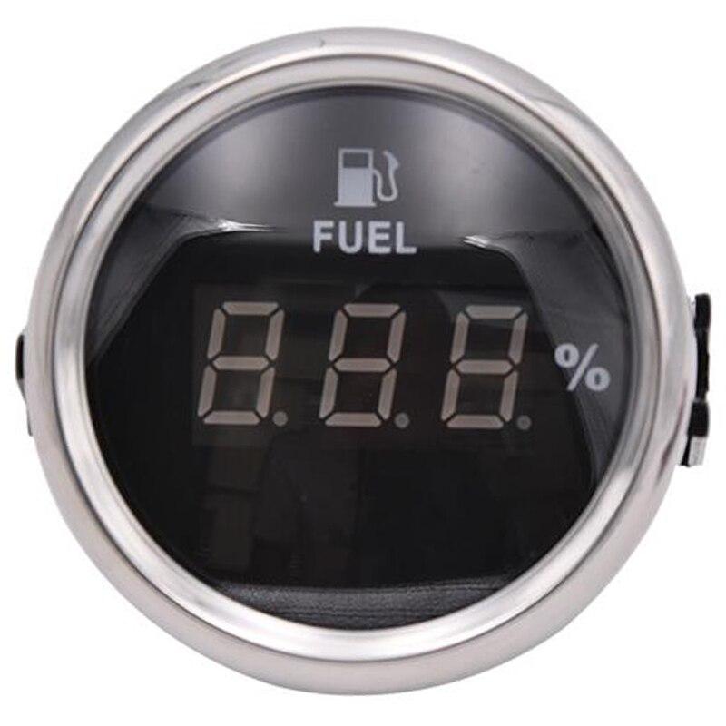 2/'/' LED Auto Car Boat Marine Pointer Fuel Level Gauge Meter Waterproof White