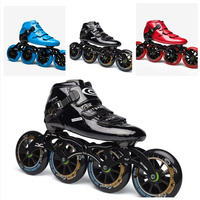 Professional CITYRUN Inline Speed Skates Shoes for Indoor Track Race Speeding Competition 110mm 100mm 90mm Carbon Fiber Roller