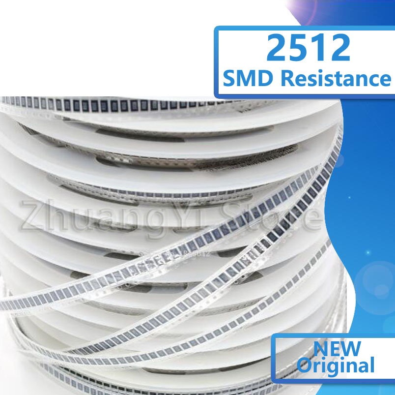 50PCS 2512 SMD Resistor 1W 1% 0.1R 0.1 Ohm R100