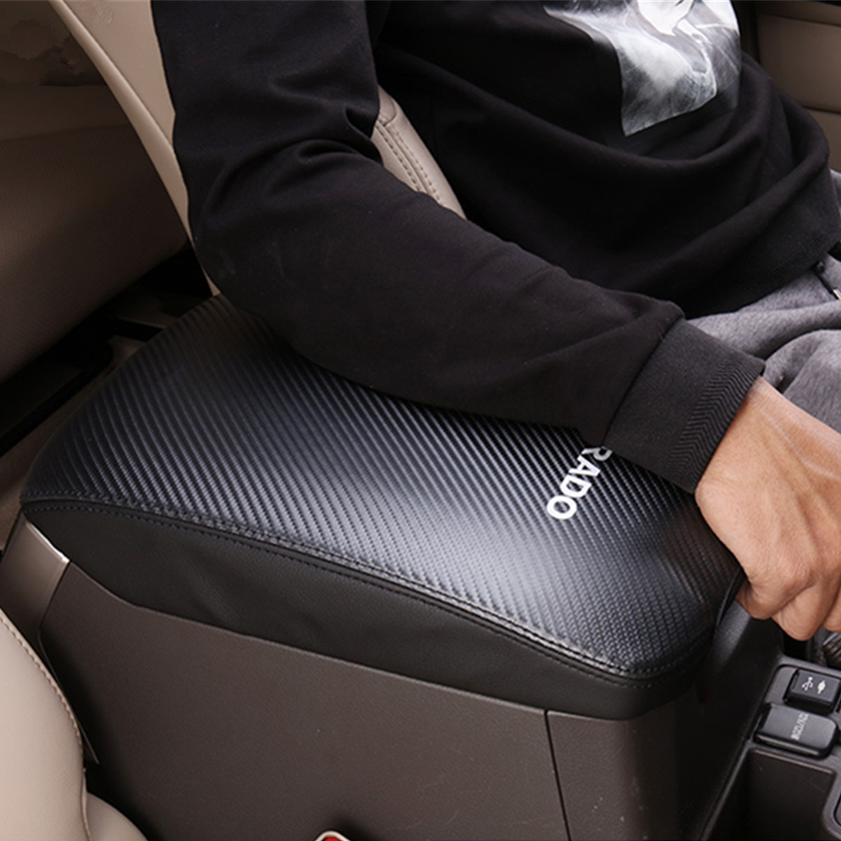 Carbon Fiber Protective Cover for Handrail Case for <font><b>Toyota</b></font> <font><b>Land</b></font> <font><b>Cruiser</b></font> <font><b>Prado</b></font> <font><b>120</b></font> <font><b>2003</b></font> 2004 2005 2006 2007 2008 <font><b>2009</b></font> Year image