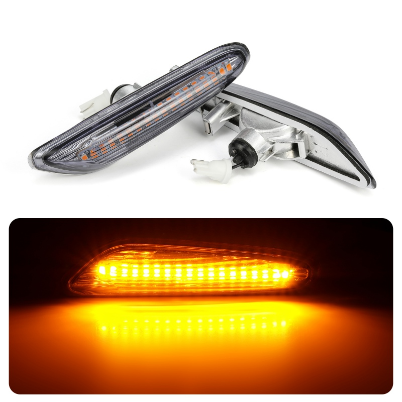 Side Marker Light Car LED Brake Turn Signal Indicator Lamp 12V Amber Fit for BMW E82 E88 E60 E61 E90 E91 E92 E93 image