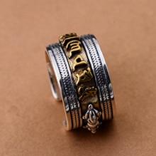 Мужское Винтажное кольцо на санскрите из серебра s925 пробы