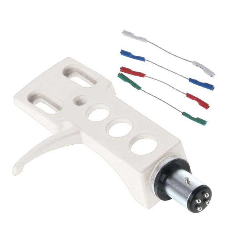 Turntable Headshell Mount Universal <font><b>LP</b></font> Phono <font><b>Cartridge</b></font> Replacement Phonograph Head Holder Stylus Lead Wire image