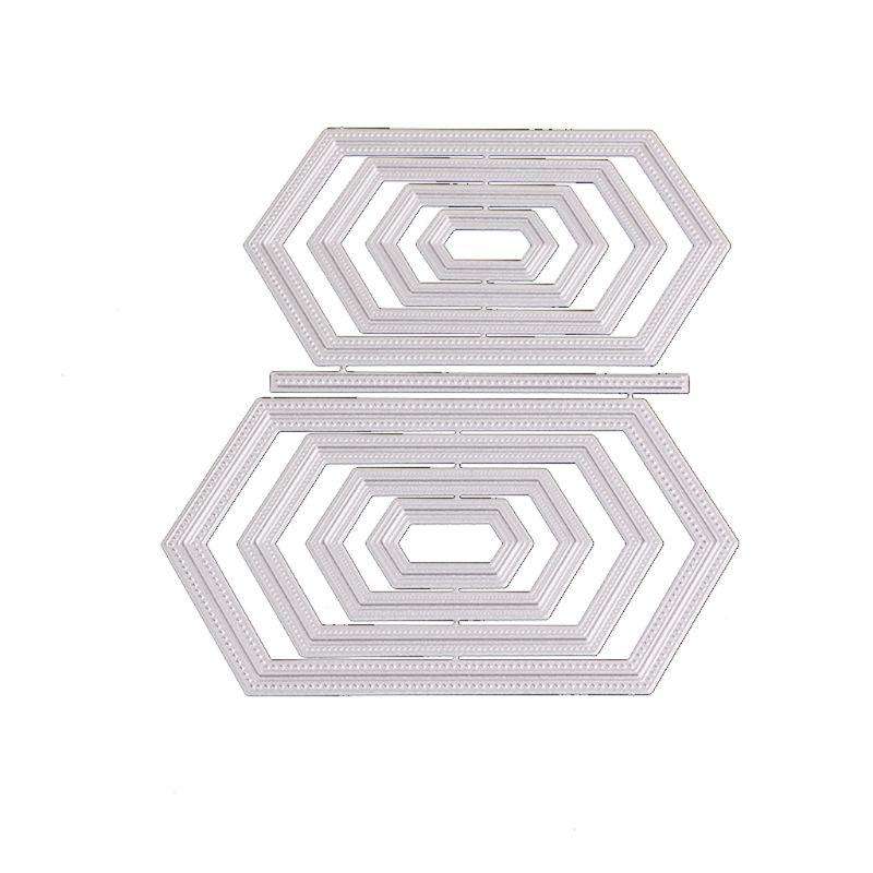 Шестигранные металлические режущие штампы DIY Скрапбукинг Бумага штамповка штампы Декор