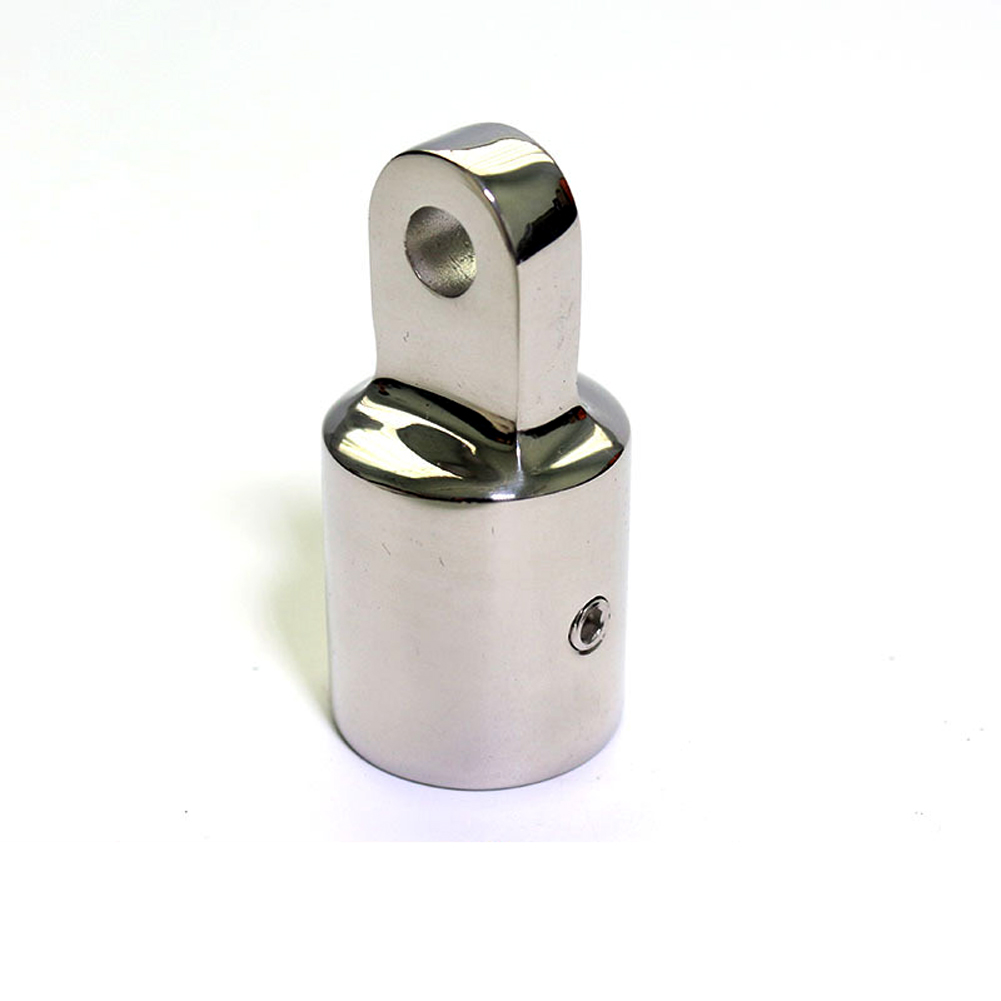 22mm Pipe Connecting Fitting Portable <font><b>Bimini</b></font> <font><b>Top</b></font> Anti Rust Yacht Parts Eye End Cap Stainless Steel Corrosion Resistant <font><b>Boat</b></font> image