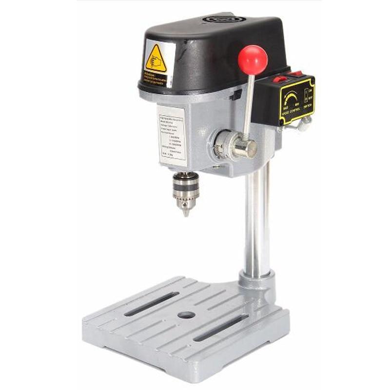 Elektrische Micro Bohren Maschine 220V Industrie Grade Multi Funktion Schneiden Sah Tabelle Desktop Elektrische Bohrfutter 0,6-6,5mm