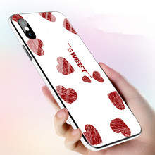 Colorful Frame Tempered Glass Case Belakang untuk iPhone X XS XR X Max untuk iPhone 6 6S 7 8 Ditambah Keren Kaca Putih shockproof Cover(China)