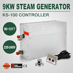 Latest Sauna Steam Generator for Shower Bath Home Spa With Controller 9KW Humidifier