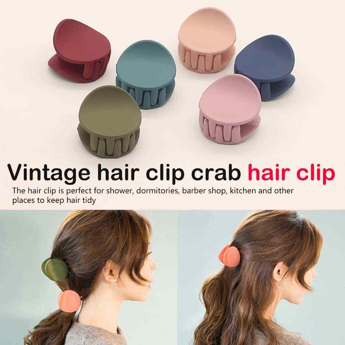 Корейский стиль, женские, дамские заколки для волос для девочек, акриловые заколки для волос, краб, аксессуары-зажимы для волос, Винтажные заколки для волос