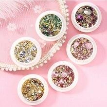 Nail Rhinestone Crystal Nail Accessories For Nails 3D Nail Art Mixed Decoration Gems Need Nail Gel Polish 100boxes/Lot