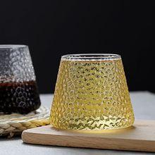 Стеклянный бокал в японском стиле fuji прозрачный 280 мл для