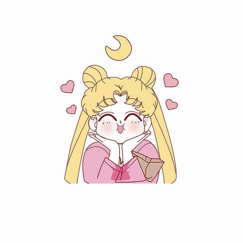 1 stücke Heiße Verkäufe Anime Sailor Moon Thermische Aufkleber Für Mädchen T-shirt Dekoration Eisen Durch Haushalt Wärme Transfer Patches Abzeichen