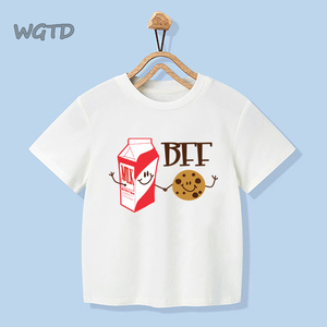 BFF Print T Shirt Kids 2020 New Summer Fashion Friends T-shirt Children Harajuku Graphic Tshirt Girl Boy Cute Tee Tops Clothing