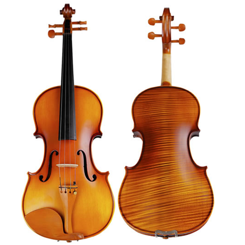 Handmade Antique Violin Natural Stripes Maple Violino Fiddle 4/4 3/4 Single Board Backplate Ebony Fingerboard TONGLING Brand image