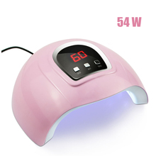 54W Nail Dryer for Nail Gel UV Lamp for Manicure Drying Gel Nail Polish LED Nail Lamp With 3 Timing Display Nail Art Lamp USB professional 9w 100 240v led light lamp gel nail polish nail dryer
