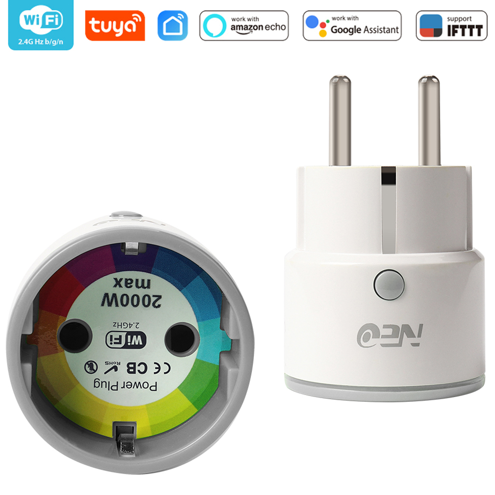 EU WiFi Smart Plug  Socket Support Alexa,Google Home,IFTTT Outlet With Timer And Remote Control Via Mobile Phone