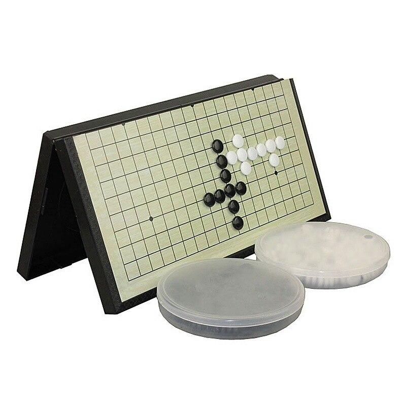 portátil conjunto peças criança estudante quebra-cabeça weiqi