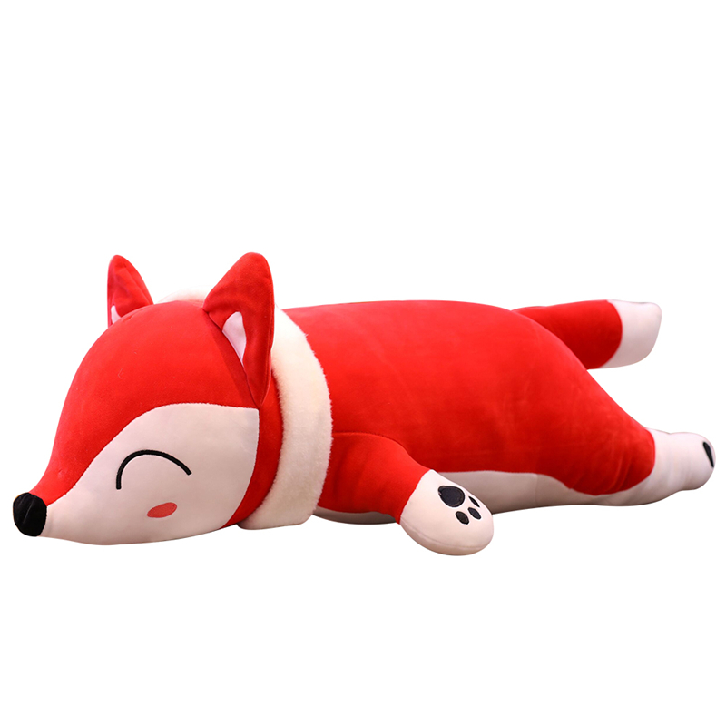 1pc 35-90cm Cute Doll Stuffed Animal Plush Toys Soft Sleeping Back Cushion Pillow Fox Doll Baby Doll Xmas Birthday Gift For Kids